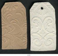 ACC Casts - Rectangular Tags - Embossed - $1.00AUD Each    www.artii-craftii-creations.com.au