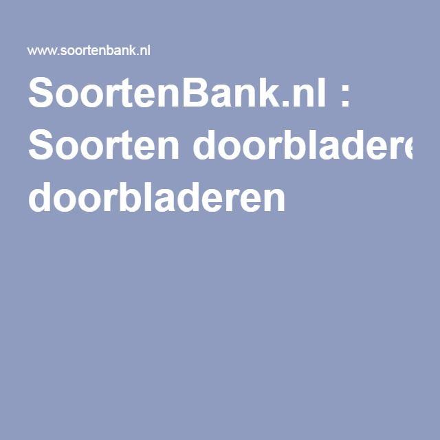 SoortenBank.nl : Soorten doorbladeren
