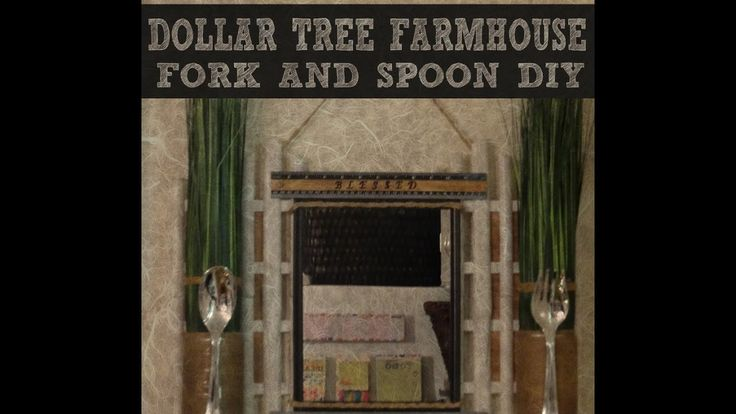 DOLLAR TREE FARMHOUSE FORK AND SPOON DIY