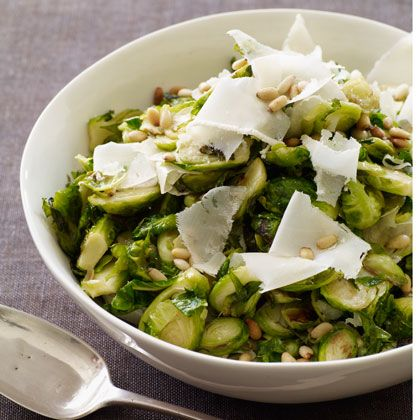 Sauteed Brussel Sprouts with Parmesan & Pine Nuts