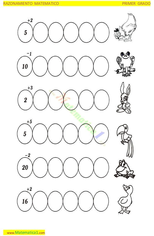 Resultado de imagen para secuencias numérica de 2 en 2