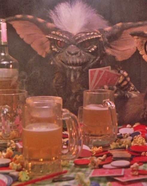 Beer night with a Gremlin, yes.