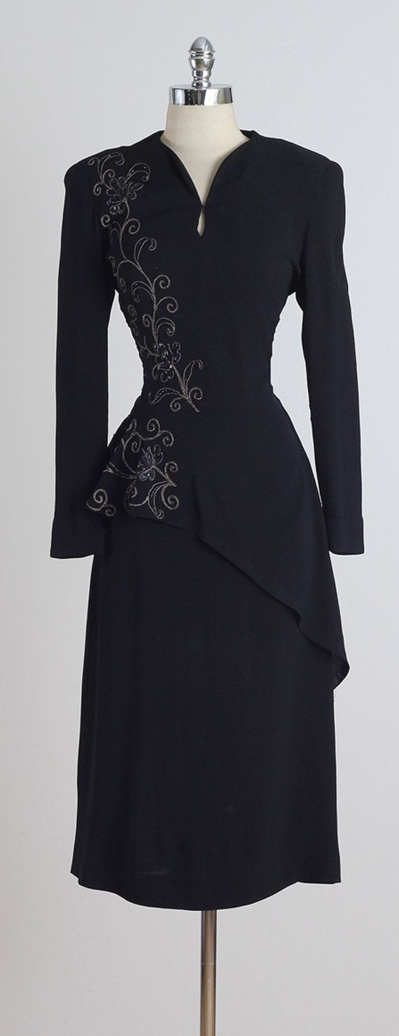 Parellada . vintage 1940s dress . vintage by millstreetvintage