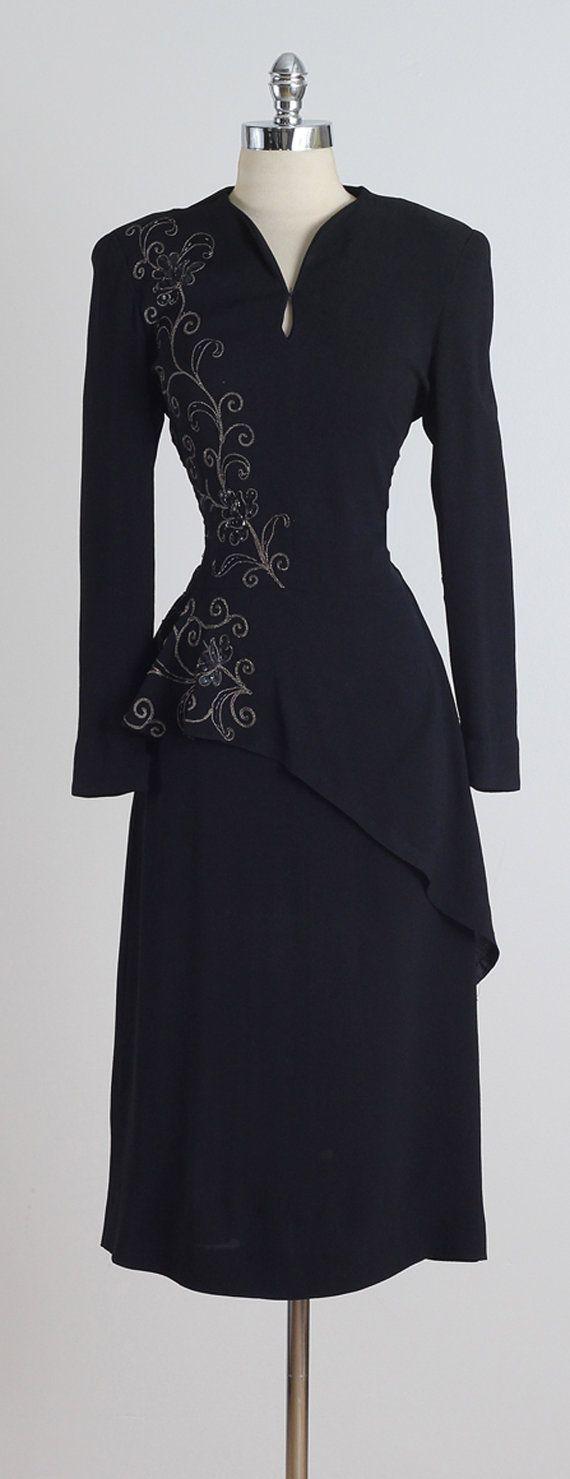 Parellada . vintage 1940s dress . vintage by millstreetvintage