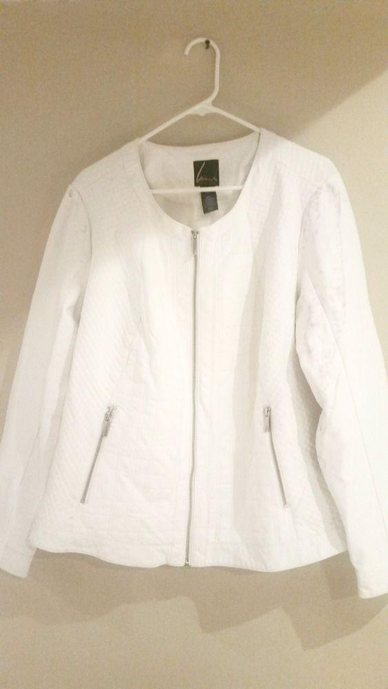 LANE BRYANT Plus Size Faux Leather Jacket Ivory Moto Size 22 / 24 Coat White   Clothing, Shoes & Accessories, Women's Clothing, Coats & Jackets   eBay!