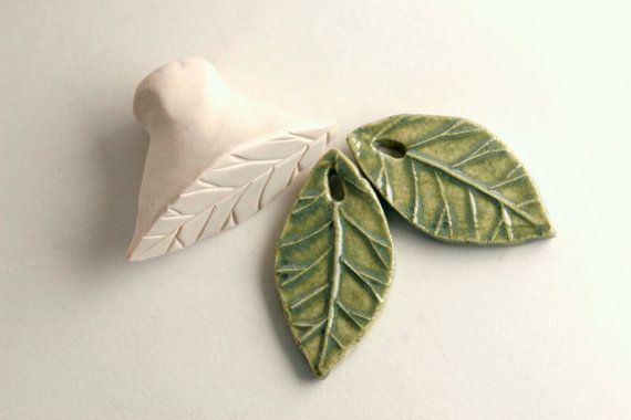 Clay Stamp Spring Leaf Just ONE Fondant Ceramics by GiselleNo5, $8.00