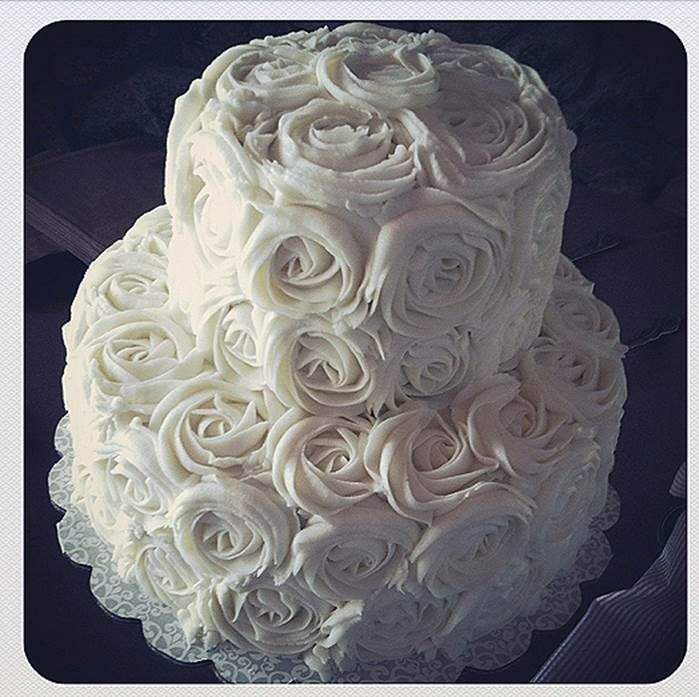 Rose cake for 35th vow renewal