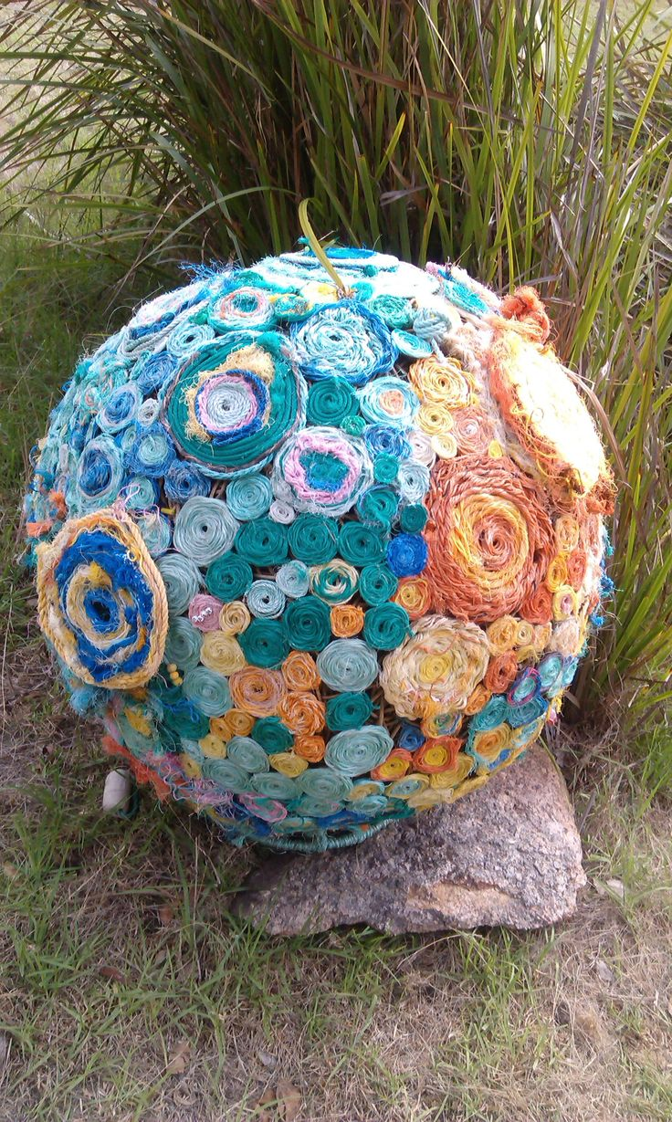 Earth created from rope collected off the beaches for Art in the Park in the Porogorups Western Australia.
