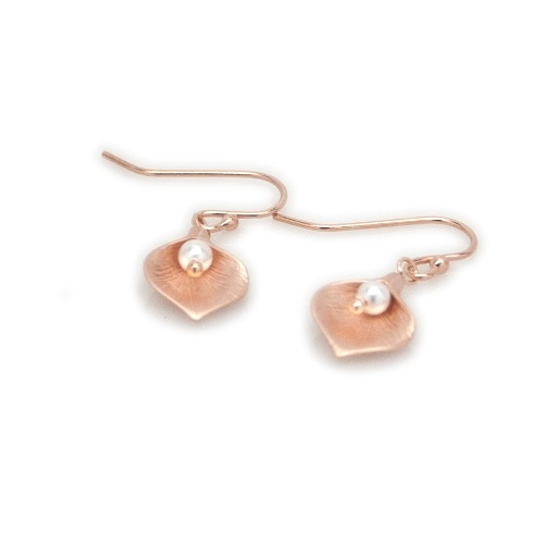 Rose Gold Lilies - Earrings by Mademoiselle M