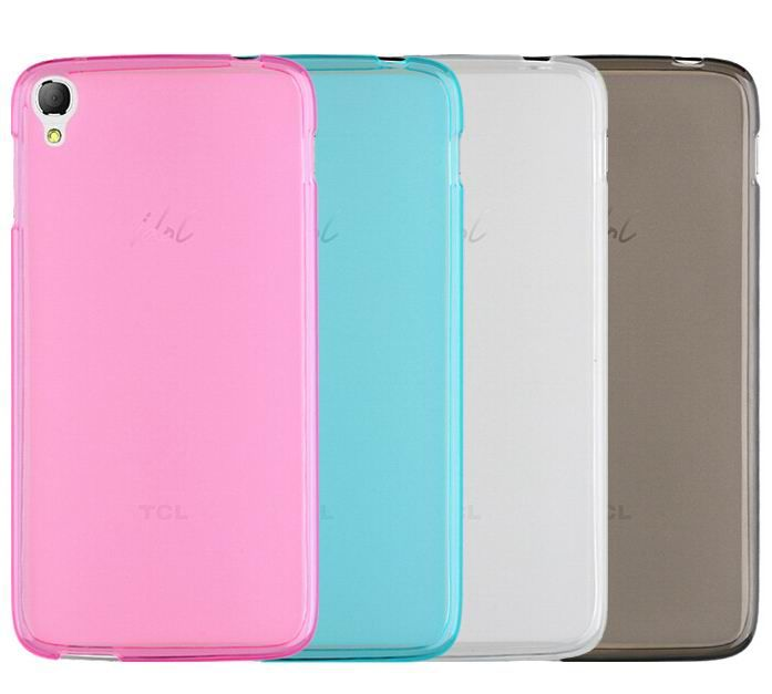 """For Alcatel One Touch Idol 3 Case 4.7"""" 6039 6039A 6039K 6039Y Clear Gel Silicone Rubber Case Crystal Soft Matte Cover"""