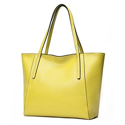 New Trending Tote Bags: CLELO Large Tote Bag Genuine Leather Purse Handbag for Women (Yellow). CLELO Large Tote Bag Genuine Leather Purse Handbag for Women (Yellow)  Special Offer: $59.99  188 Reviews Department: Women Brand: CLELO Color: Black, Red, Yellow Style: tote bag/leather purse/shoulder bag/handbag Features: 1. The design of the leather tote bag is noble and...