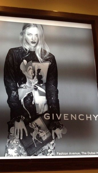 Givenchy wallpaper in Dubai mall!