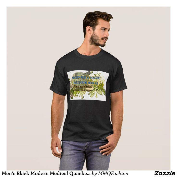 Men's Black Modern Medical Quackery T-shirt