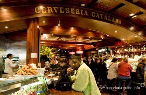 Most famous tapasbar in Barcelona; Cerveseria Catalana