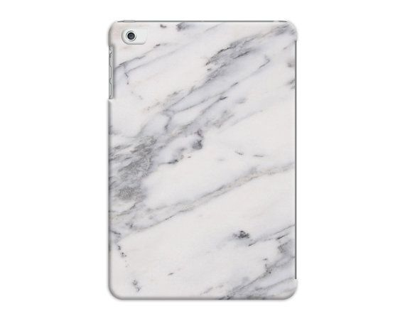 disguised White & Grey Marble Veined Effect Pattern Case Cover - iPad Air - iPad Mini - iPad 2 3 4