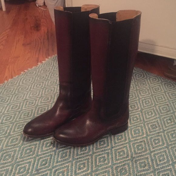Frye Riding Boots Distressed brown meager. Great condition. Never been worn. Frye Shoes Winter & Rain Boots