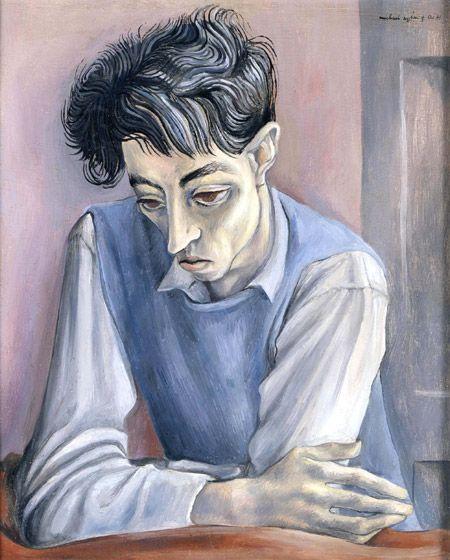 artistandstudio:    Michael Ayrton (British, 1921-1975), Portrait of John Minton, 1941. Oil on panel, 41 x 33.5cm.