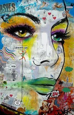 "Saatchi+Online+Artist+Loui+Jover;+Drawing,+""wonderland""+#art"