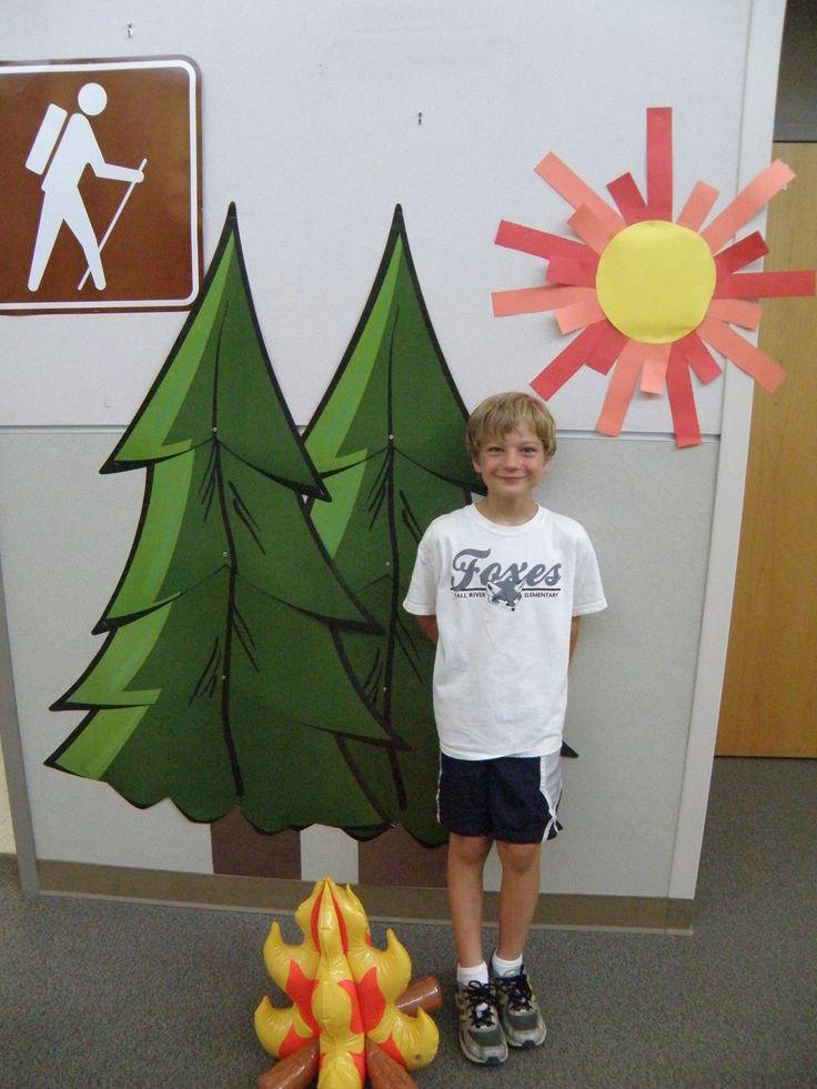 camping theme classroom pictures | Summer 2012 featured a camping theme all summer, from prizes to ...