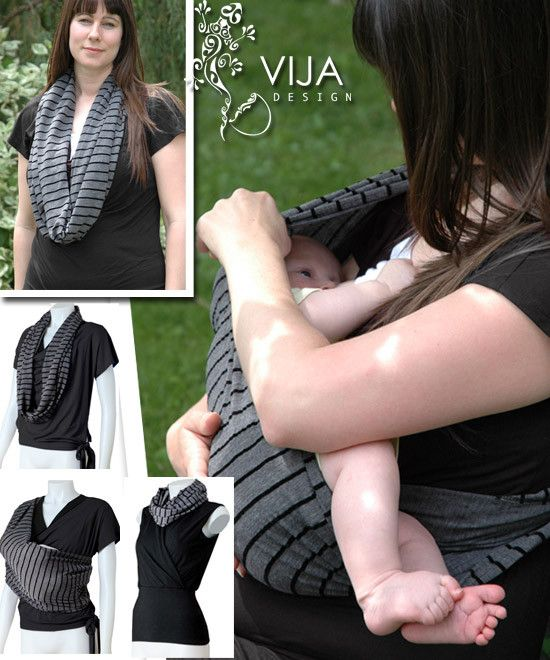 Striped Infinity Nursing Scarf / Cover – Milk & Baby