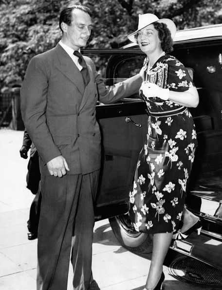 Prince Louis Ferdinand of Prussia and his wife Kira Kirillovna of Russia, arriving to Maison Blanche, New York, USA, May 1938.