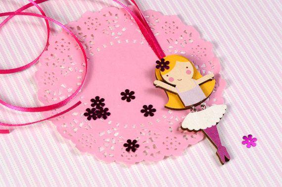 Mintapalinta POP, Ballerina pendant, $15 https://www.etsy.com/listing/209835873/mintapalinta-pop-kids-jewelry-unique