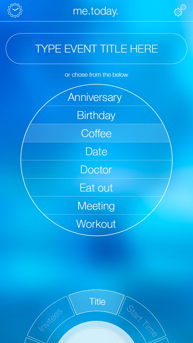 me.today. calendar app for the iPhone