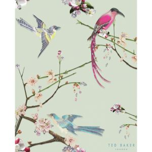 BCT47599-Ted-Baker-Flight-of-the-Orient-Mint-ArTile-600mm-x-750mm  #TedBaker #tiles #kitchen #interiors