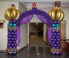 Arabian Nights themed Balloon Entry Arch:  Balloonopolis