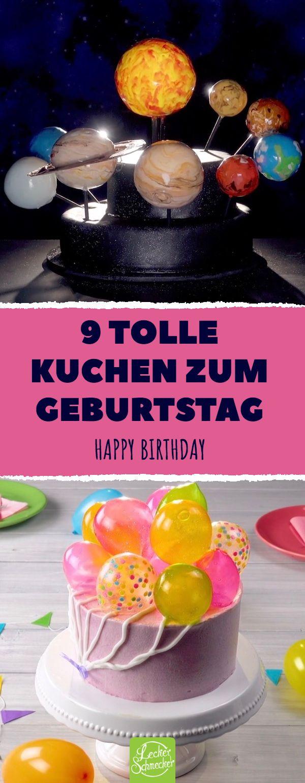 9 ótimos bolos para o seu aniversário Feliz Aniversário #recipes #cakes #tort #birthday …