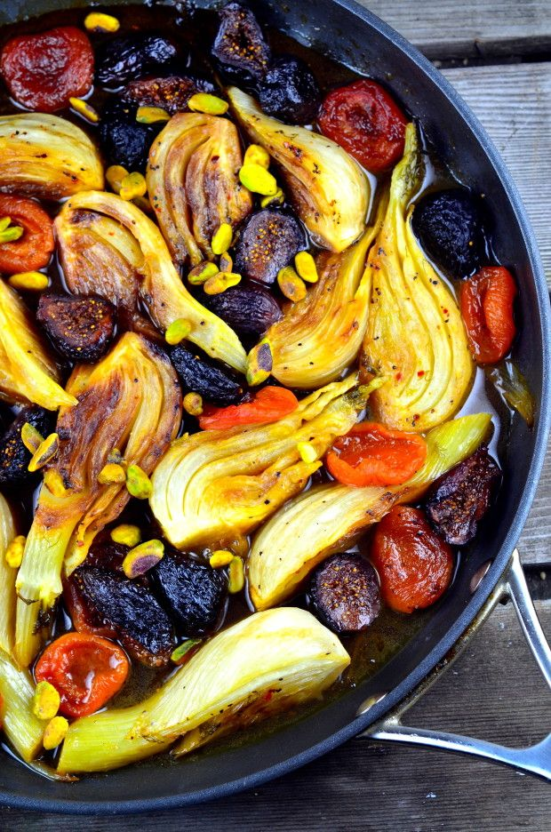 Gluten Free Passover Recipes Part 4: Braised Fennel with Apricots and Figs
