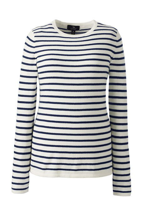 Women's Cashmere Tee Stripe Sweater from Lands' End