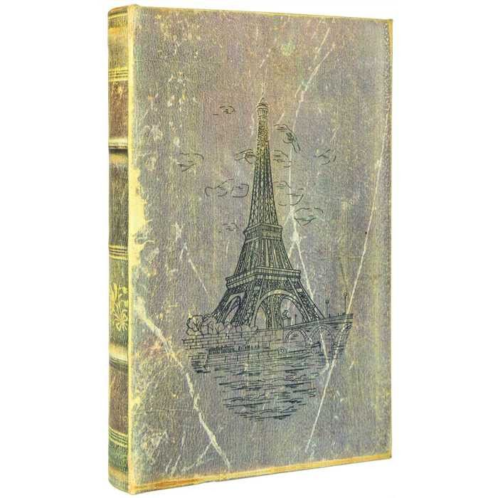 Small Distressed Eiffel Tower Lined Book Box
