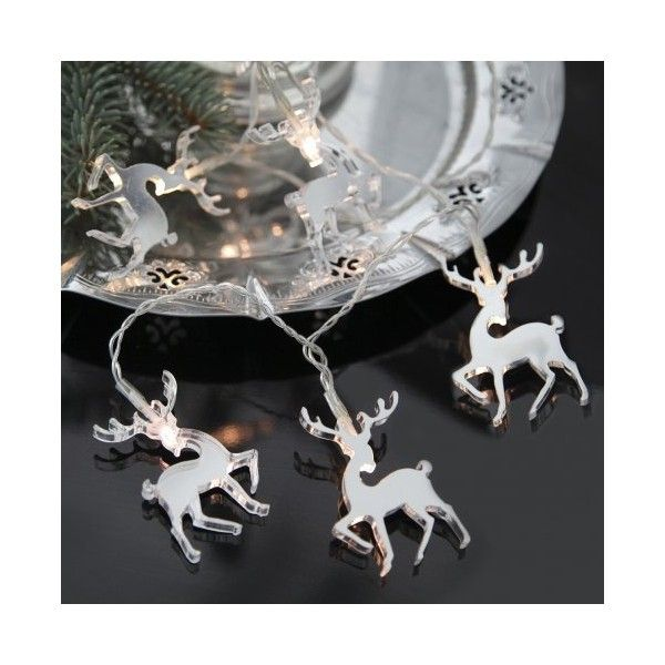 Lampki choinkowe Mirror Reindeers Star Trading ($42) ❤ liked on Polyvore featuring home, home decor and holiday decorations