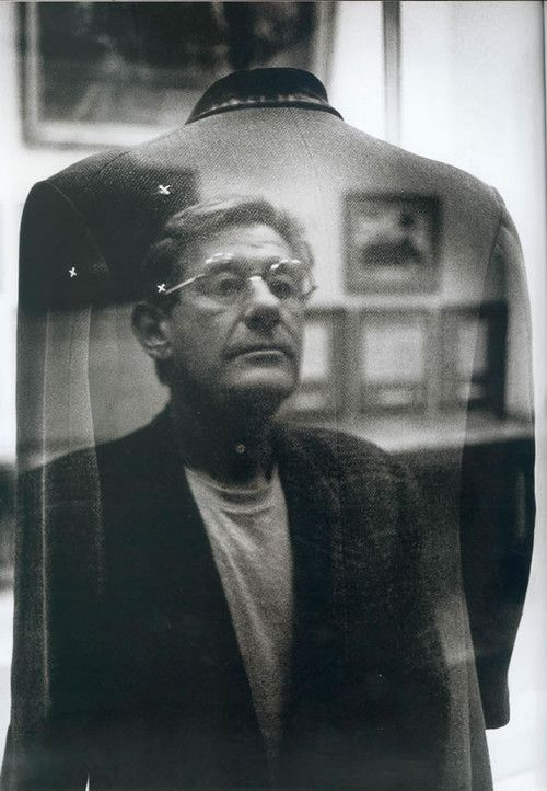Helmut Newton self-portrait