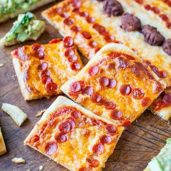 Pepperoni Pizza And Chipotle Avocado Cucumber Flatbreads