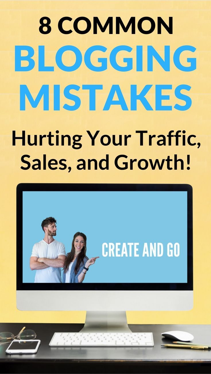 Blogging Mistakes   Blog Tips   Blogging for Beginners   Start a Blog   http://createandgo.co/biggest-mistakes-new-bloggers-make/