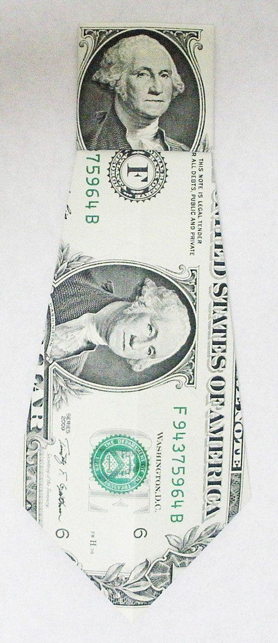 Dollar Bill Origami Necktie