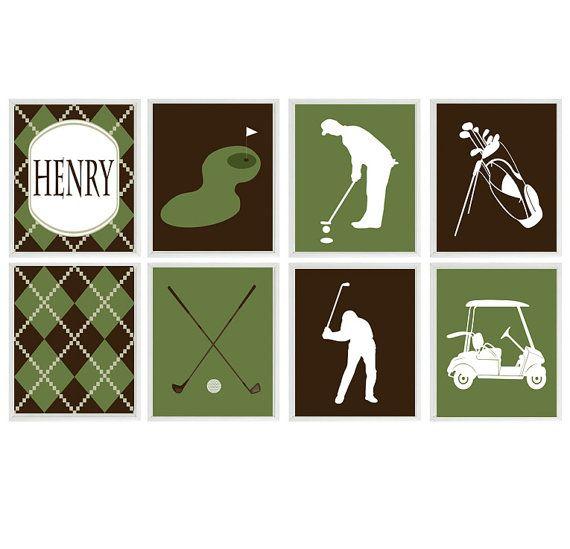 Golf Baby Nursery | Golf Wall Art, Baby Boy Nursery, Golf Room Decor, Part 19