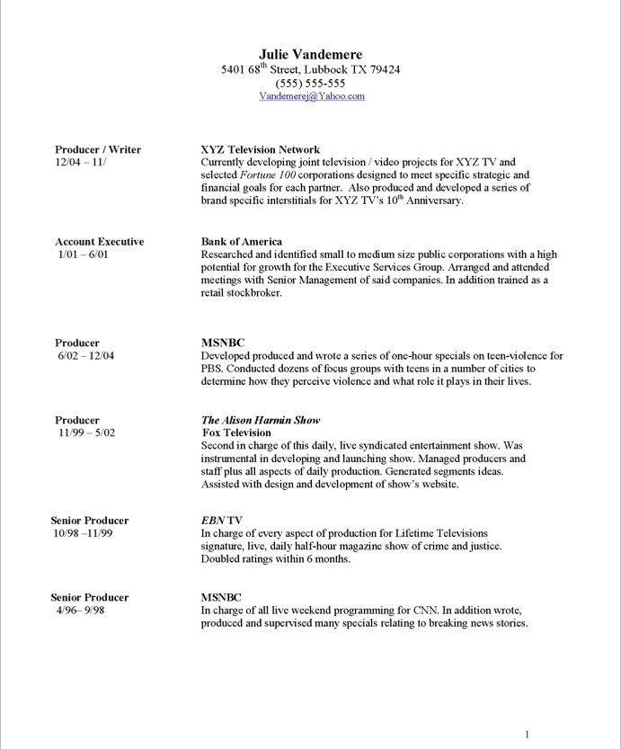 16 best Media \ Communications Resume Samples images on Pinterest - communication on resume
