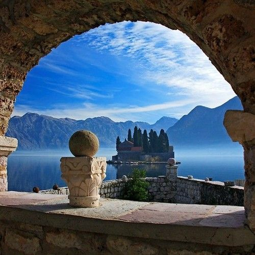 Island View, Kotor Bay, MontenegroBeautiful Placs, Destinations, Kotor Bays, Beautiful Places, Travel Tips, Islands, Amazing Places, Kotor Montenegro, Rocks