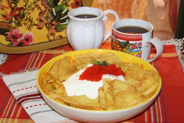 """Доброе утро, Кулинары!  Желаем Вам солнечного и успешного дня! И предлагаем вкусный рецепты для завтрака:   БЛИНЫ """"СОЛНЕЧНЫЕ"""" С СЕМОЛИНОЙ   http://www.koolinar.ru/recipe/view/122929"""