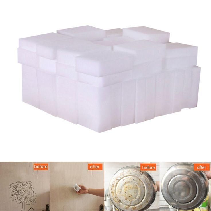 20Pcs Multi-function Magic Melamine Sponge Eraser Cleaner Cleaning Sponges Kitchen Bathroom 100x60x20mm MTY3