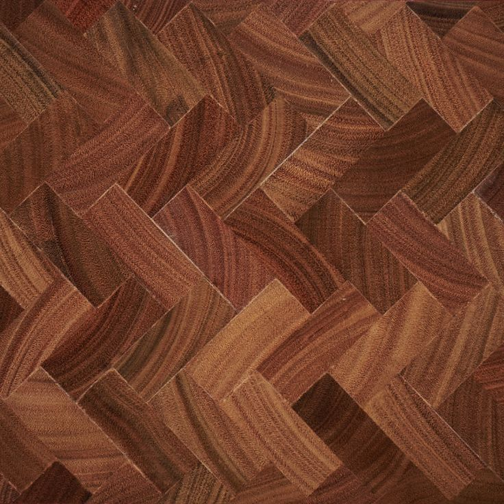 End Grain Parquetry in Spotted Gum - herringbone pattern
