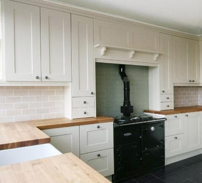 Painted Shaker Style Kitchen in Farrow  Ball 'Pointing'