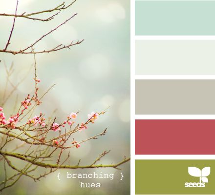 branching hues; instead of gray, it uses a taupe with sea green, a red, and olive