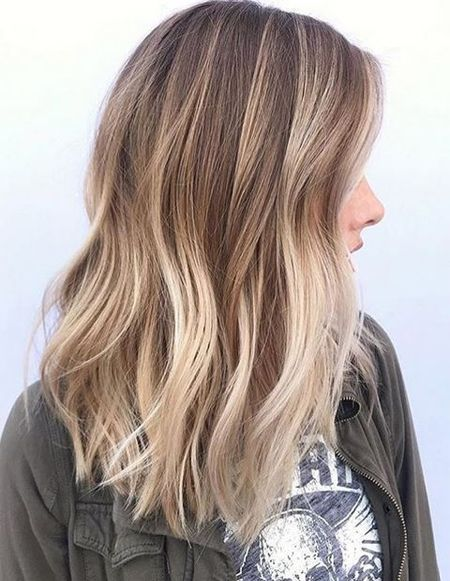 Balayage color ideas for spring 2018 medium hairstyles multi-tonal brown ombre