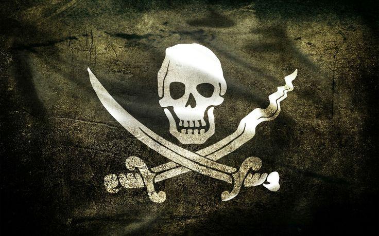 История появления флага «Весёлый Роджер» Во время эпидемии чумы, холеры или иной смертельной болезни, на кораблях поднимали специальный флаг — две диагональные белые полосы на чёрном фоне. Это был знак другим кораблям держаться подальше ... Пираты поднимали данный флаг исключительно перед боем, а не постоянно ходили под таким флагом. https://plus.google.com/116722315371741795462/posts/hGPz3qvS4cj?_utm_source=1-2-2