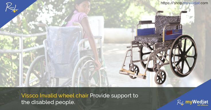 Vissco Invalid wheel chair Provide support to the disabled people.  #myWedjat #Vissco #WheelChair  https://goo.gl/FCWhV6