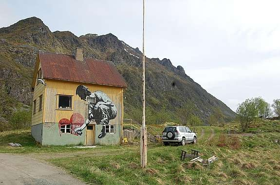 Pøbel in Lofoten, Norway